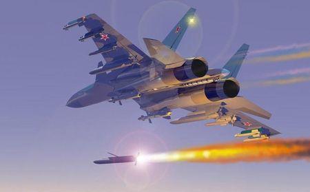 Су-34 атакует наземную цель