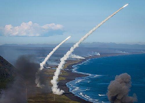 Пуск ракет ПВО. Фото Минобороны России