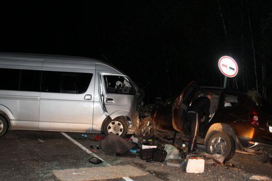ВБалахтинском районе вДТП смикроавтобусом достаточно серьезно пострадали 9 человек