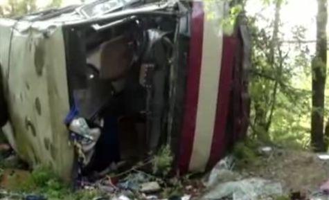 ВКрыму пассажирский автобус сорвался собрыва, есть жертвы