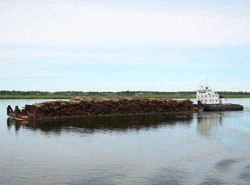 ВКрасноярском крае при столкновении резиновой лодки сбаржей умер рыбак