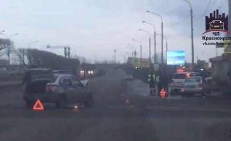 ВКрасноярске вДТП сучастием машины Росгвардии пострадал один человек