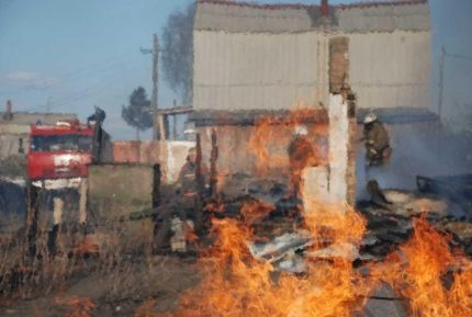 2-ой пожар произошел внаселенном пункте Красноярского края