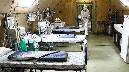 Голос водителя абаканской станции скорой помощи был услышан. Уже 16 ноября мобильный госпиталь Минобороны примет первых пациентов