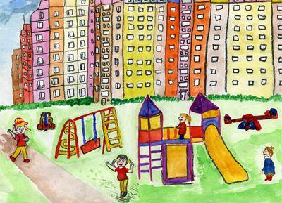 Нарисуй дом своей мечты рисунок